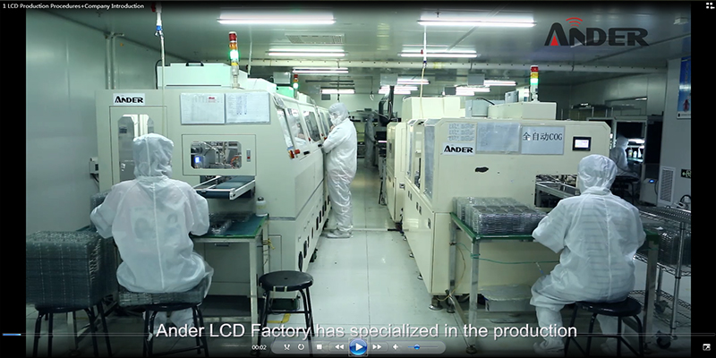 Ander lcd factory's quality management introduction is professional